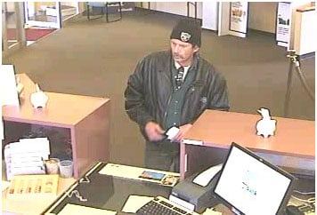 This December 7, 2010 surveillance photo shows the suspect who allegedly held up a US Bank in Granite City, Illinois on Tuesday. By KMOV Web Producer