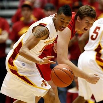 Iowa State guard Diante Garrett, left, steals the ball from Southeast Missouri State center Zach House during the first half of an NCAA college basketball game, Monday, Dec. 6, 2010, in Ames, Iowa. (AP Photo/Charlie Neibergall) By Charlie Neibergall