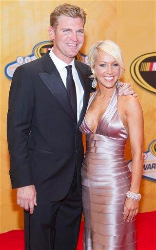 Clint Bowyer, left, and Lorra Podsiadlo arrive at the NASCAR Sprint Cup Series Auto Racing Awards, Friday, Dec. 3, 2010 at The Wynn Resort & Casino in Las Vegas. (AP Photo/Eric Jamison) By Eric Jamison