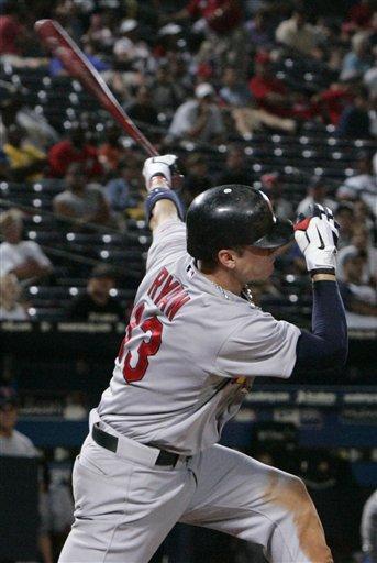 St. Louis Cardinals' Brendan Ryan (13) bats against the Atlanta Braves during the ninth inning of an MLB baseball game, Sunday Sept. 12, 2010, in Atlanta. St. Louis won 7-3. (AP Photo/John Amis) By John Amis