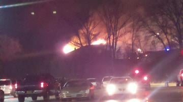 KMOV viewer Rick Portell sent this photo of the fire in via the KMOV iPhone app. By Bryce Moore