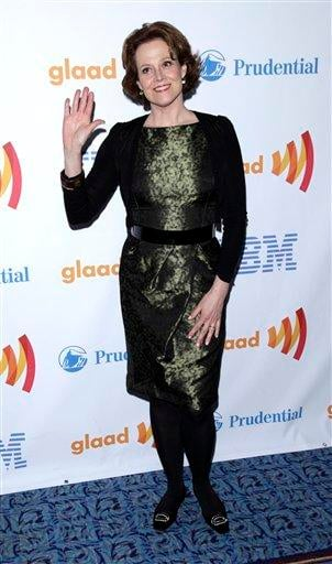 Actress Sigourney Weaver attends the 21st annual GLAAD Media Awards in New York, on Saturday, March 13, 2010. (AP Photo/Peter Kramer) By Peter Kramer