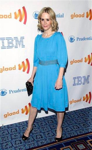 Actress Sarah Paulson attends the 21st annual GLAAD Media Awards in New York, on Saturday, March 13, 2010. (AP Photo/Peter Kramer) By Peter Kramer