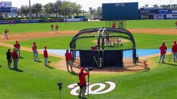 Infield drills before the Cardinals/Nationals game on Sunday, March 14 By Lakisha Jackson