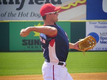 Washington Nationals third baseman Ryan Zimmerman throws a ball to first base. By Lakisha Jackson