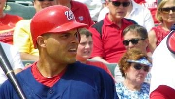 "Nationals catcher Ivan ""Pudge"" Rodriguez By Lakisha Jackson"