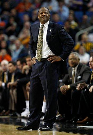 Missouri head coach Mike Anderson stands during the first half of an NCAA first-round college basketball game against Clemson in Buffalo, N.Y., on Friday, March 19, 2010.  Missouri won, 86-78. (AP Photo/David Duprey) By David Duprey