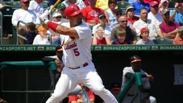Albert Pujols stands in to bat during the first inning of Wednesday's game between the Orioles and the Cardinals By Lakisha Jackson