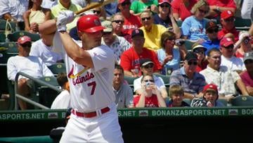 Cardinals outfielder Matt Holliday up to bat in the second inning of Wednesday's game between the Orioles and the Cardinals By Lakisha Jackson