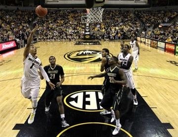 COLUMBIA, MO - JANUARY 26:  Phil Pressey #1 of the Missouri Tigers shoots during the game against the Vanderbilt Commodores at Mizzou Arena on January 26, 2013 in Columbia, Missouri.  (Photo by Jamie Squire/Getty Images) By Jamie Squire