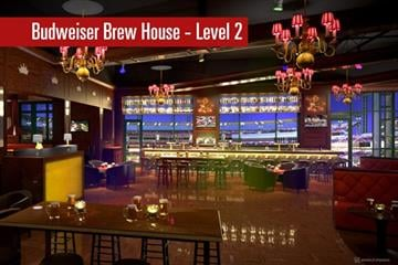 A rendering of Budweiser Brew House, Level 2 By Brendan Marks