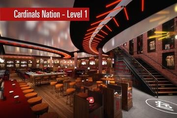 A rendering of Cardinals Nation, Level 1 By Brendan Marks