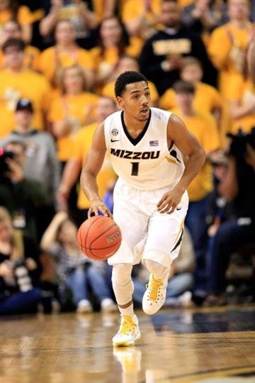 COLUMBIA, MO - FEBRUARY 09:  Phil Pressey #1 of the Missouri Tigers controls the ball during the game against the Mississippi Rebels at Mizzou Arena on February 9, 2013 in Columbia, Missouri.  (Photo by Jamie Squire/Getty Images) By Jamie Squire