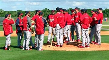 Meeting on the mound at Cardinals Spring Training - February 22, 2013 By Bryce Moore