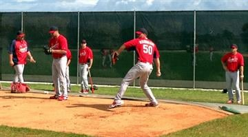 Adam Wainwright at Cardinals Spring Training - February 22, 2013 By Bryce Moore