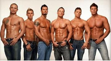 Six well-muscled members of Thunder From Down Under, the Australian all-male revue, held a would-be thief until security arrived, Las Vegas police said. By Elizabeth Eisele
