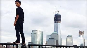 Sixteen-year-old Justin Casquejo was arrested at 6 a.m. Sunday at 1 World Trade Center, the nation's tallest building, and was charged with misdemeanor criminal trespass, police said. By Elizabeth Eisele