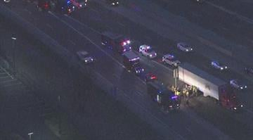The car went under the side of the truck in the northbound lanes of the interstate at the Tesson Ferry Rd. exit around 6:25 a.m. By Brendan Marks