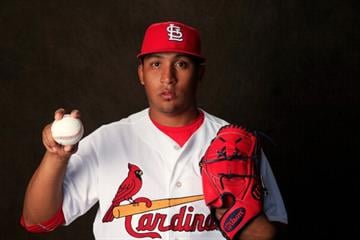 JUPITER, FL - FEBRUARY 24:  Jorge Rondon #68 of the St. Louis Cardinals poses for a portrait during photo day at Roger Dean Stadium on February 24, 2014 in Jupiter, Florida.  (Photo by Rob Carr/Getty Images) By Rob Carr
