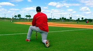 Mike Matheny at Cardinals Spring Training - February 22, 2013 By Bryce Moore