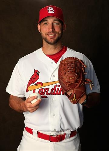 JUPITER, FL - FEBRUARY 24:  Adam Wainwright #50 of the St. Louis Cardinals poses for a portrait during photo day at Roger Dean Stadium on February 24, 2014 in Jupiter, Florida.  (Photo by Rob Carr/Getty Images) By Rob Carr