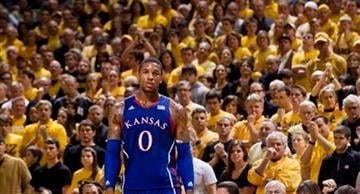 Kansas' Thomas Robinson looks to the sideline in the final seconds of the second half of an NCAA college basketball game against Missouri,Saturday, Feb. 4, 2012, in Columbia, Mo. Missouri won the game 74-71. (AP Photo/L.G. Patterson) By L.G. Patterson