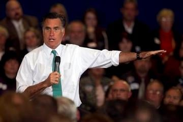 Republican presidential candidate, former Massachusetts Gov. Mitt Romney, speaks to a crowd during a campaign event, in Warwick, R.I., Wednesday, April 11, 2012. (AP Photo/Steven Senne) By Steven Senne