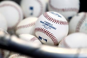 MILWAUKEE, WI - APRIL 06: A bucket of practice ball is seen before the St. Louis Cardinals play against the Milwaukee Brewers on Opening Day at Miller Park on April 06, 2012 in Milwaukee, Wisconsin. (Photo by Mike McGinnis/Getty Images) By Mike McGinnis