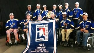 The St. Louis Blues sled hockey team won the national championship game in Dallas, Texas on Sunday. By KMOV Web Producer
