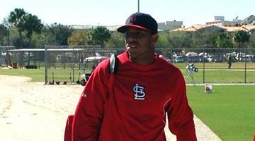 Oscar Taveras at Cardinals Spring Training in Jupiter, Florida By Bryce Moore