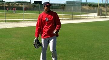Oscar Taveras at Cardinals spring training - February 2013 By Bryce Moore