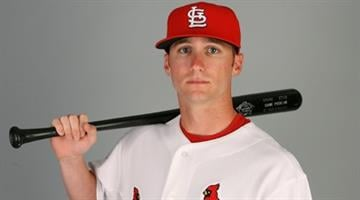 JUPITER, FL - MARCH 01:  Outfielder Shane Robinson #64 of the St. Louis Cardinals during photo day at Roger Dean Stadium on March 1, 2010 in Jupiter, Florida.  (Photo by Doug Benc/Getty Images) By Doug Benc