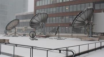 The largest winter storm the Midwest has seen in two years swept through downtown St. Louis on Thursday, leaving the News 4 studios under a blanket of snow and ice. By Brendan Marks