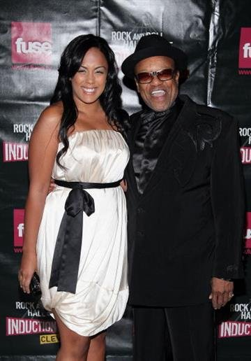 CLEVELAND - APRIL 04:  Musician Bobby Womack (R) and Gina Womack attend the 24th Annual Rock and Roll Hall of Fame Induction Ceremony at Public Hall on April 4, 2009 in Cleveland, Ohio.  (Photo by Michael Loccisano/Getty Images) By Michael Loccisano