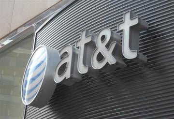 The AT&T logo is seen on June 2, 2010 in Washington DC.AFP PHOTO/Etienne FRANCHI (Photo credit should read Etienne FRANCHI/AFP/Getty Images) By AFP