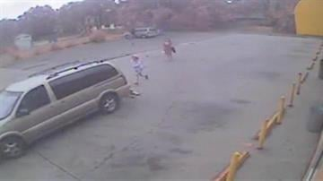 Police released video of the stroller being hit and dragged by a minivan in the parking lot of a Muskegon store. Police are working to identify the driver and also released images of him in the store. By Bryce Moore