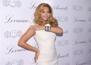 "NEW YORK - NOVEMBER 22:  Actress and singer Beyonce Knowles hosts the launch of Lorraine Schwartz's ""2BHAPPY"" jewelry collection at Lavo NYC on November 22, 2010 in New York City.  (Photo by Michael Loccisano/Getty Images) By Michael Loccisano"
