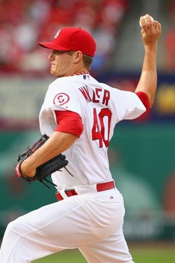 ST. LOUIS, MO - JUNE 6: Starter Shelby Miller #40 of the St. Louis Cardinals pitches against the Arizona Diamondbacks at Busch Stadium on June 6, 2013 in St. Louis, Missouri.  (Photo by Dilip Vishwanat/Getty Images) By Dilip Vishwanat