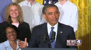 """The president says it's working the way it's supposed to with """"better benefits, stronger protections, more bang for your buck."""" Boehner calls the measure """"a train wreck."""" By KMOV Web Producer"""