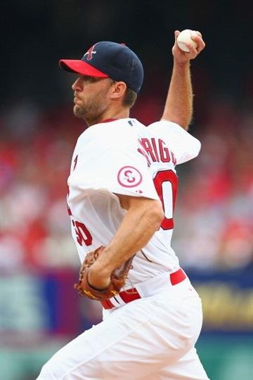ST. LOUIS, MO - JULY 21: Starter Adam Wainwright #50 of the St. Louis Cardinals pitches against the San Diego Padres at Busch Stadium on July 21, 2013 in St. Louis, Missouri.  (Photo by Dilip Vishwanat/Getty Images) By Dilip Vishwanat