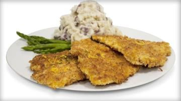 The Cheesecake Factory's Crispy Chicken Costoletta entree contains about the same amount of calories as a 12 piece bucket of chicken, according to the Center for Science in the Public Interest. By Eric Lorenz