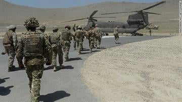 NATO soldiers are shown outside Kabul, Afghanistan, in June. By Brendan Marks