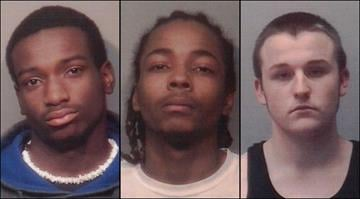 Devonte Marshall (left), Maurice Morris (center) and Garrett Babb have been charged for their alleged involvement with robberies in Collinsville that happened after victims answered Craigslist ads about a television for sale. By Brendan Marks