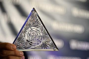 NEW YORK, NY - DECEMBER 27:  A view of one of the newley designed Waterford Crystals at the Waterford Crystal Times Square New Year's Eve ball unveiling on December 27, 2013 in New York, United States.  (Photo by Mike Coppola/Getty Images) By Mike Coppola