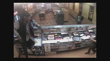 (KMOV) --  A violent armed robbery at a north St. Louis County Subway was caught on camera. By Stephanie Baumer