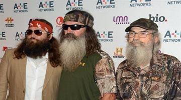 NEW YORK, NY - MAY 09:  (L-R) Willie Robertson, Phil Robertson and Si Robertson of Duck Dynasty attend the A+E Networks 2012 Upfront at Lincoln Center on May 9, 2012 in New York City.  (Photo by Dimitrios Kambouris/Getty Images) By Dimitrios Kambouris