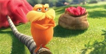 "In this film image released by Universal Pictures, animated character Lorax, voiced by Danny Devito, is shown in a scene from ""Dr. Seuss' The Lorax."" (AP Photo/Universal Pictures) By Universal Pictures"