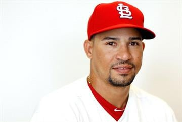 JUPITER, FL - FEBRUARY 29:  Rafael Furcal #15 of the St. Louis Cardinals poses during photo day at Roger Dean Stadium on February 29, 2012 in Jupiter, Florida.  (Photo by Mike Ehrmann/Getty Images) By Mike Ehrmann