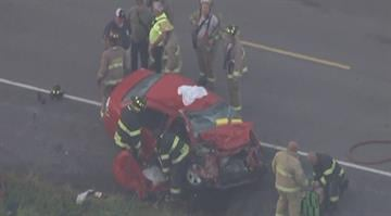 Two cars collided on the route near Baldwin Road close to New Athens, Illinois before 7:00 a.m. By Stephanie Baumer