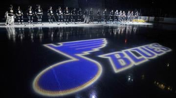 ST. LOUIS, MO - OCTOBER 8: The St. Louis Blues are introduced before a game against the Nashville Predators at Scottrade Center on October 8, 2011 in St. Louis, Missouri.  (Photo by Jeff Curry/Getty Images) By Jeff Curry